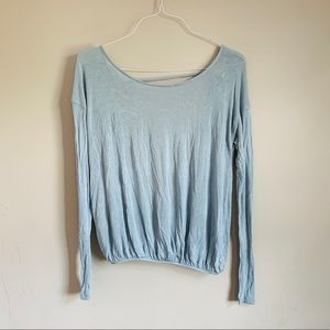 Free people size small open back long sleeve tee